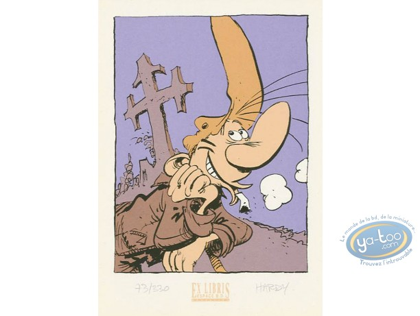 Bookplate Serigraph, Pierre Tombal : Happy