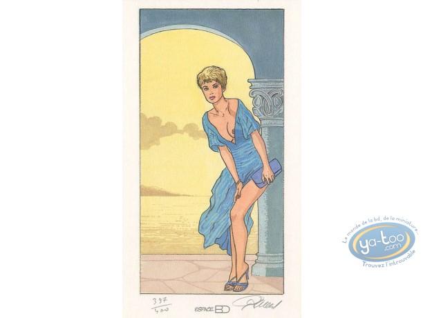 Bookplate Offset, Jessica Blandy : Blue Dress