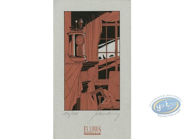 Bookplate Serigraph, Loups : Inside
