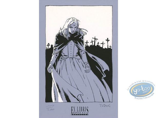 Bookplate Serigraph, Voyages de Takuan (Les) : Vampire