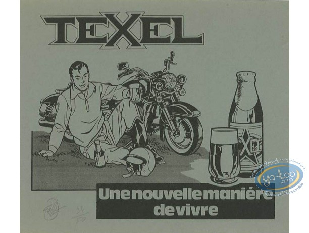 Bookplate Serigraph, Maîtres de l'Orge (Les) : Texel (b&w)