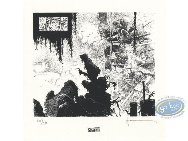 Serigraph Print, Jérémiah : In the fog