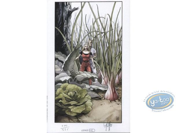 Bookplate Offset, Pension du Dr. Eon (La) : The Garden