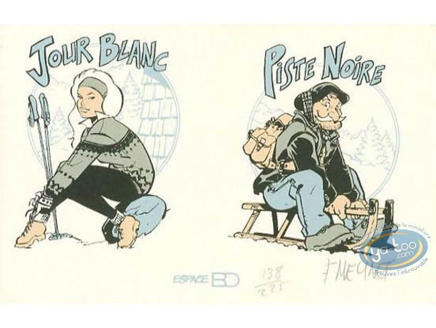 Bookplate Serigraph, Fanfoué : Jour blanc, Piste noire
