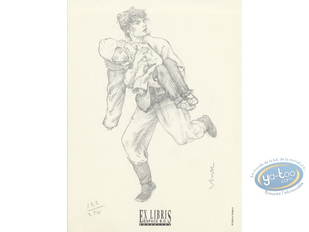 Bookplate Offset, Moine Fou (Le) : He-Pao runing
