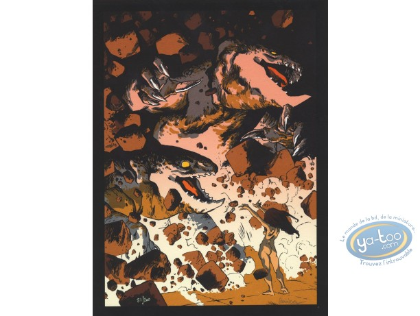 Serigraph Print, Terres d'Ombre : Monsters