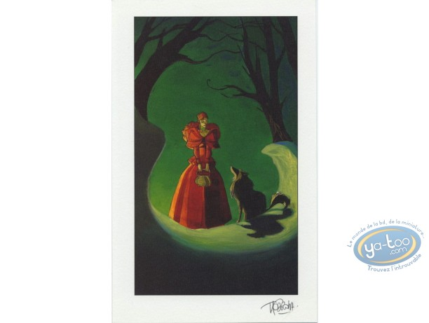 Bookplate Offset, Fontaine aux Fables (La) : Red Riding Hood & Wolf