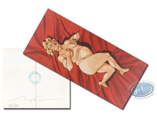 Bookplate Offset, Vieux Fou : Naked Woman