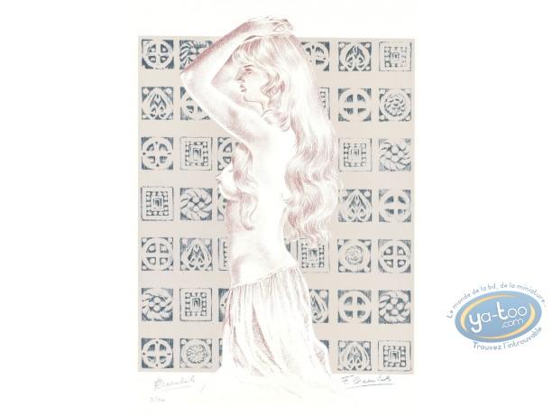 Serigraph Print, Chevalier Ardent : Gwendoline