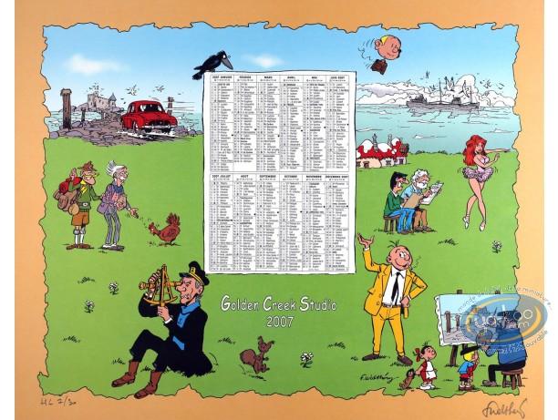 Offset Print, Calendar Golden Creek 2007