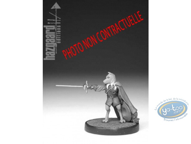 Metal Figurine, Cape et de Crocs (De) : Don Lope (unpainted)