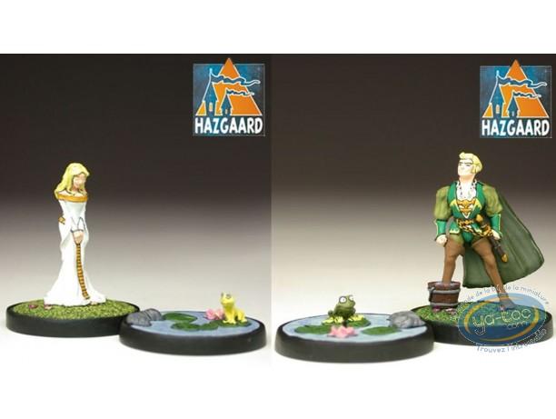 Metal Figurine, Garulfo : Garulfo & Romuald + Hephylie & her rainette (unpainted)