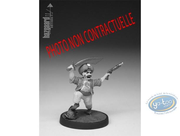 Metal Figurine, Cape et de Crocs (De) : Rais Kader  (unpainted)