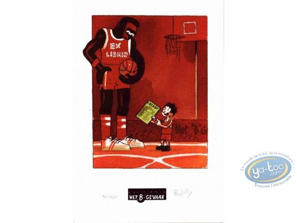 Bookplate Offset, Ludo : basket