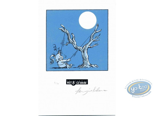 Bookplate Serigraph, Nathalie : The Moon