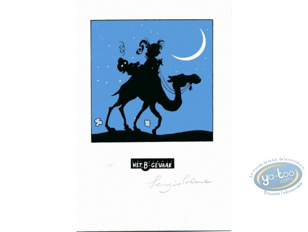 Bookplate Serigraph, Nathalie : The desert