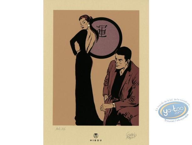 Bookplate Serigraph, Bob Morane : Bob & Miss Ylang-Ylang