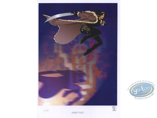 Bookplate Offset, Carmen Mc Callum : Carmen with a sword