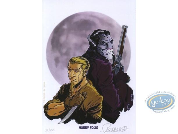 Bookplate Offset, Porte des Mondes (La) : Duo with guns