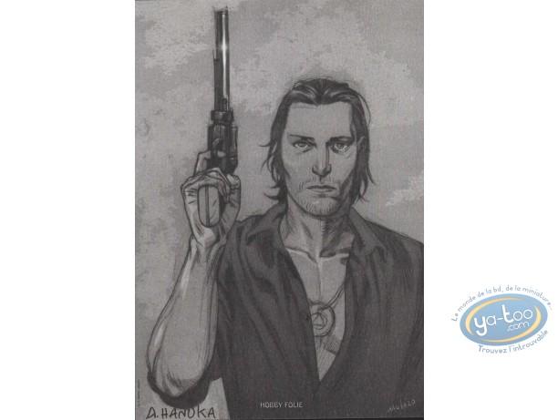 Bookplate Offset, Légende de Cassidy (La) : Portrait with a gun