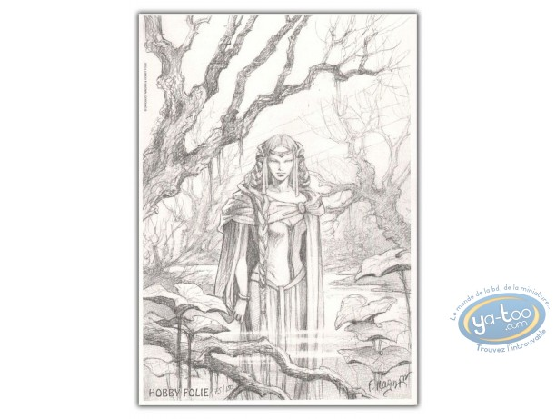 Bookplate Offset, Héritage d'Emilie (L') : Woman in the swamp