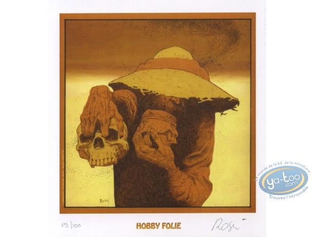 Bookplate Offset, W.E.S.T : Skull