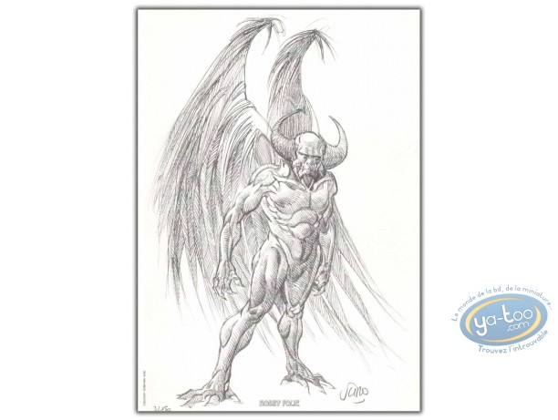 Bookplate Offset, Clan des Chimères (Le) : Stryge (sketch)