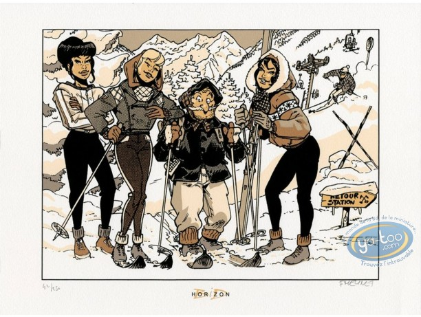 Serigraph Print, Fanfoué : Winter Sports