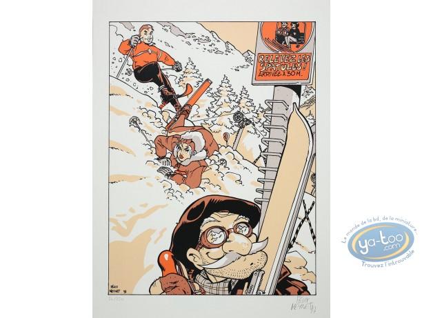 Serigraph Print, Double M : Winter Sports