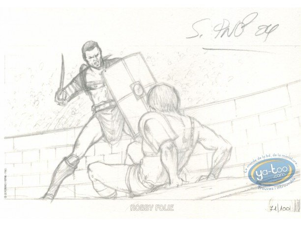 Bookplate Offset, Spartacus le gladiateur : Fight