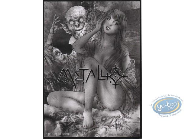 Bookplate Offset, Metal : Woman