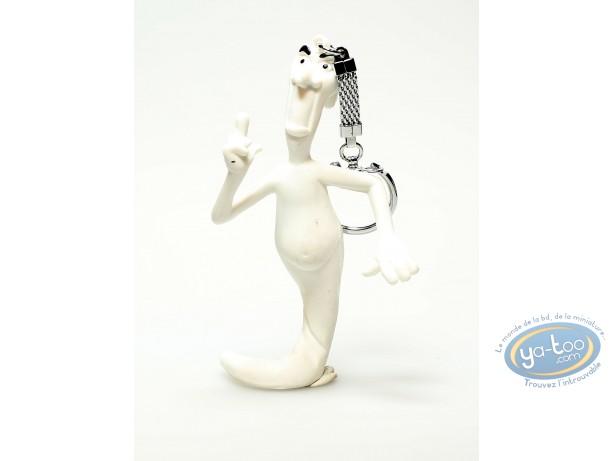 Plastic Figurine, Casper : PVC keyring, Casper : Ghost fingering