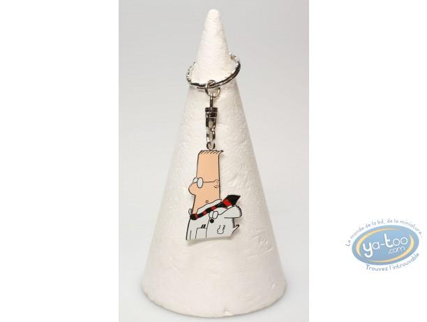 Plastic Figurine, Dilbert : Metal key ring, Adams, Dilbert : Profile Dilbert