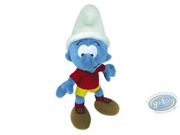 Plush, Smurfs (The) : The Smurf footballer 30 cm
