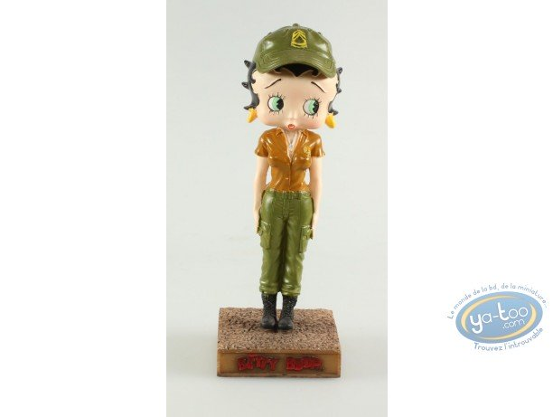 Resin Statuette, Betty Boop : Betty Boop Military