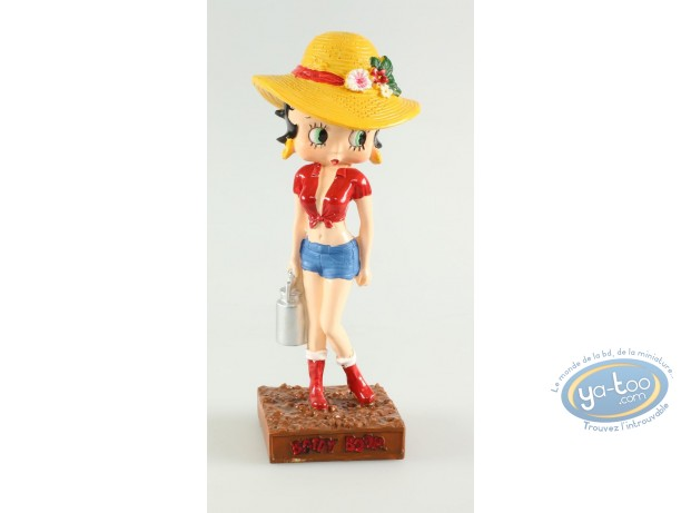 Resin Statuette, Betty Boop : Betty Boop Farmer