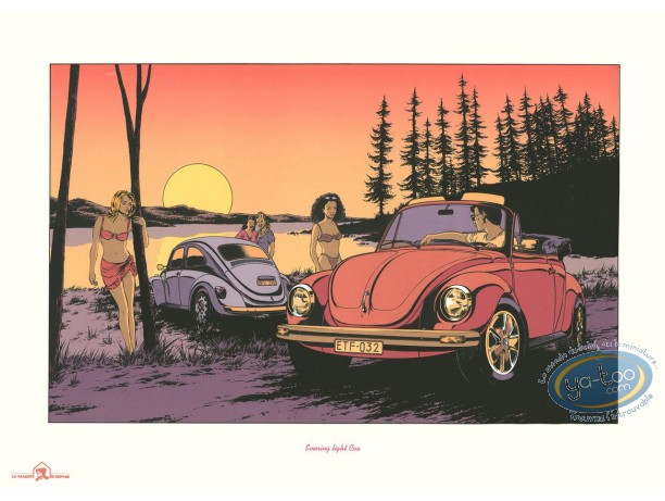 Serigraph Print, Horizon Blanc : Evening light Cox