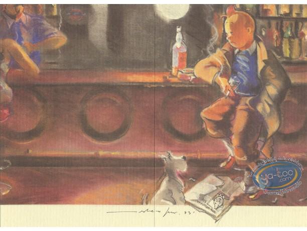 Bookplate Offset, Tintin : Hommage, Tintin F. Miro n°1