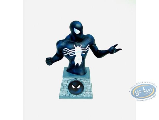 Resin Statuette, Spiderman : Spider-man in black costume - Paperweight