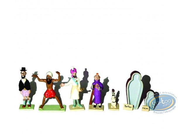 Metal Figurine, Tintin : Cigard of the Pharaoh (mini set)