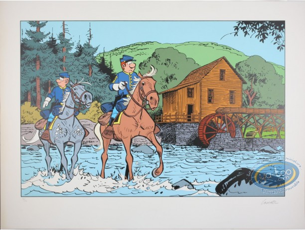 Serigraph Print, Blue Coats (The) : Departure on mission