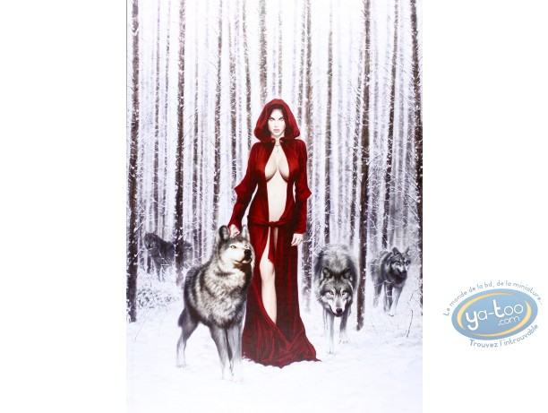 Offset Print, Winter Witch