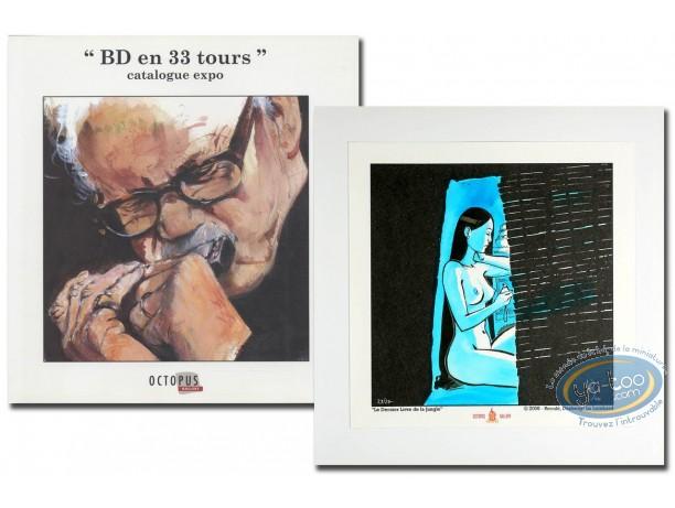 Book, BD en 33 Tours : BD en 33 tours + ex-libris Dany + ex-libris Reculé aquarellé