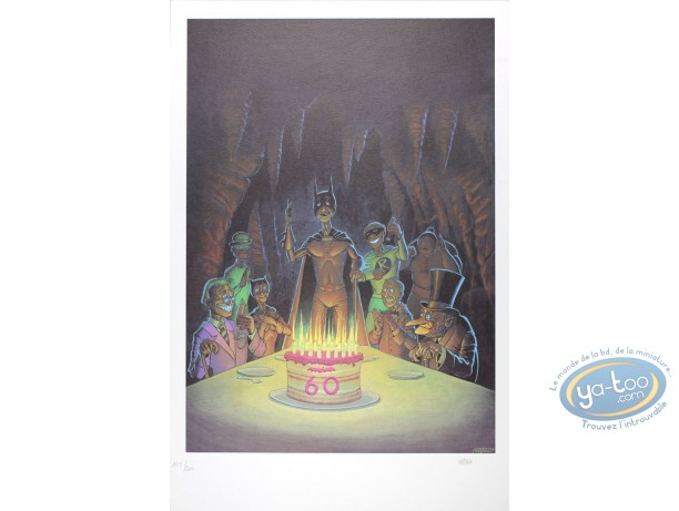 Offset Print, Batman : Batman 60th Birthday