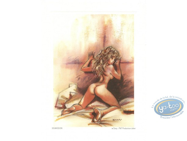 Offset Print, Pin-Up : Submissive woman