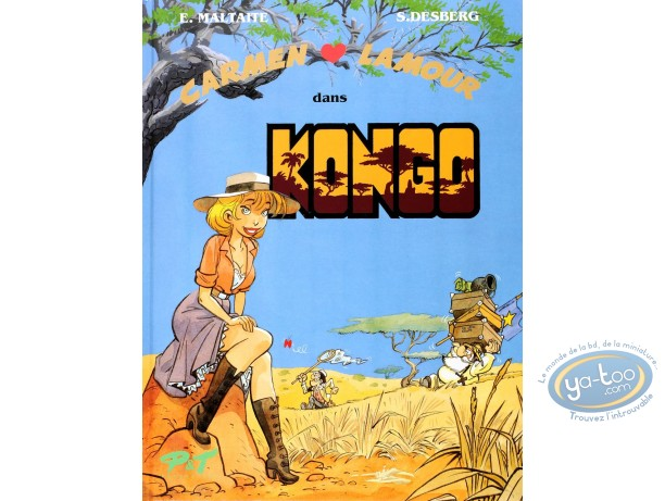 Reduced price European comic books, Carmen Lamour : Maltaite, Carmen Lamour dans Kongo