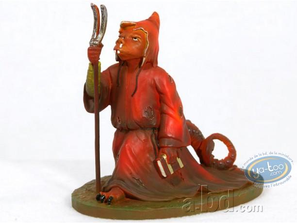 Resin Statuette, Tableaux en 3D : Matthias Grünewald - Monstre avec bure rouge
