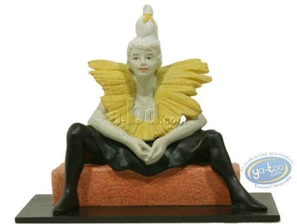 Resin Statuette, Tableaux en 3D : Toulouse Lautrec - La Clownesse