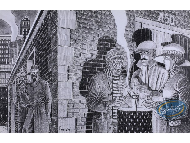 Offset Print, Victor Sackville : Guet-apens in New-York