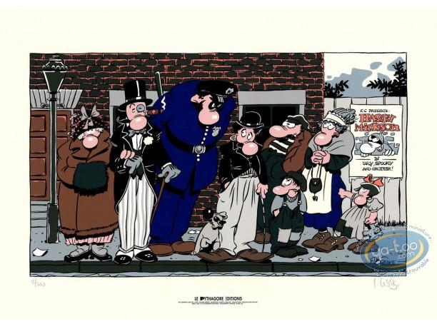 Serigraph Print, Harry Mickson : Charlie Chaplin